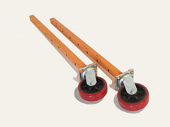 Center pole scaffolding casters
