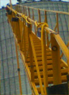 Browse Grain Bin Center pole Staircase / Roof Horse